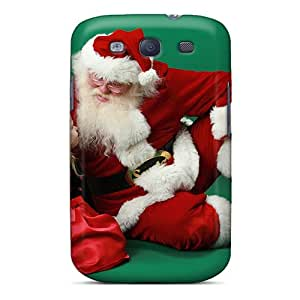 For Galaxy S3 Tpu Phone Case Cover(little Girl Santa Claus)