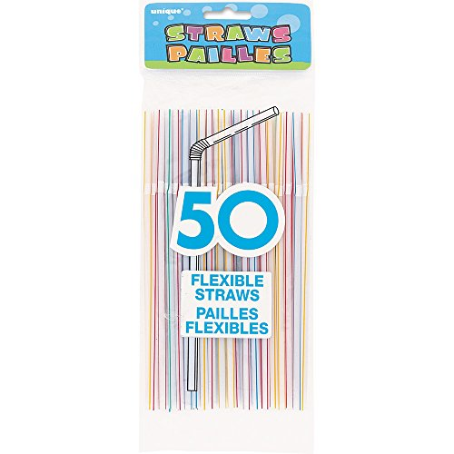 Flexible Plastic Drinking Assorted Striped