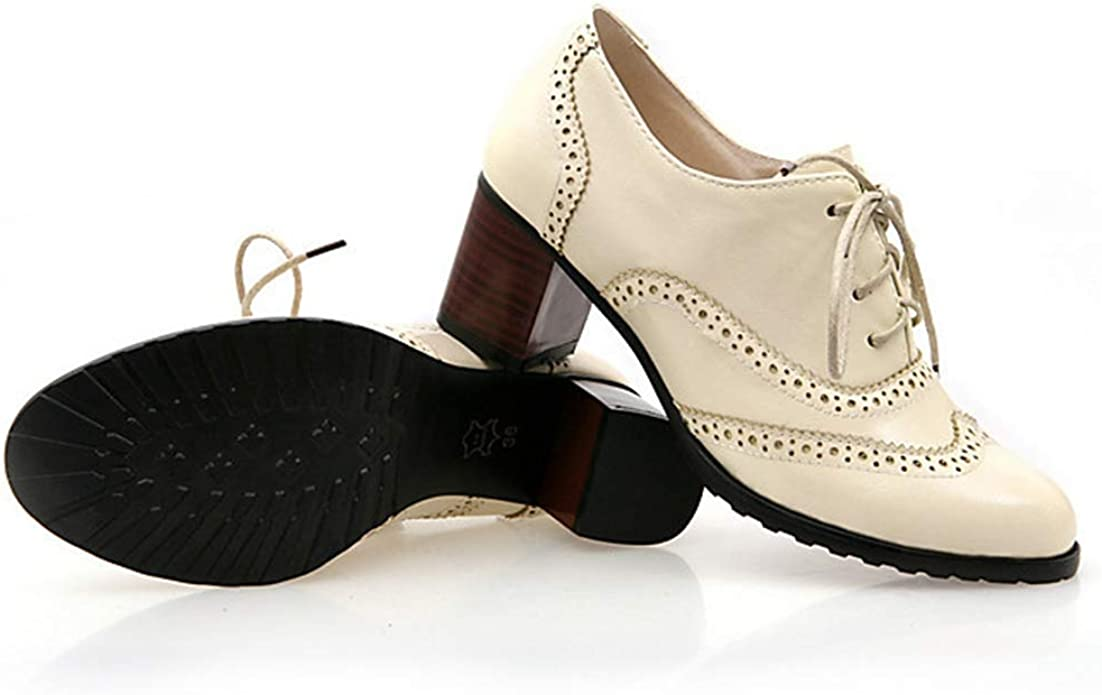 Details about  /Retro Mens Pumps Slip On Pointy Toe Brogue Carved Chunky Leather Oxfords Shoes