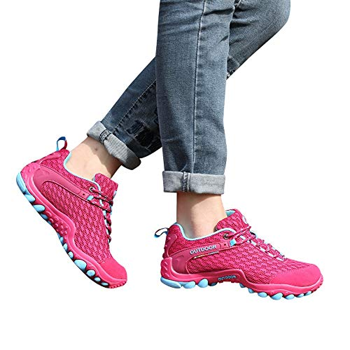 para Caminar Mujer de Calzado Al Mujer Zapatos de Zapatos Libre Deportivo para Rosa E Senderismo Aire O Zapatillas Oto Antideslizantes para Invierno an0AZx8