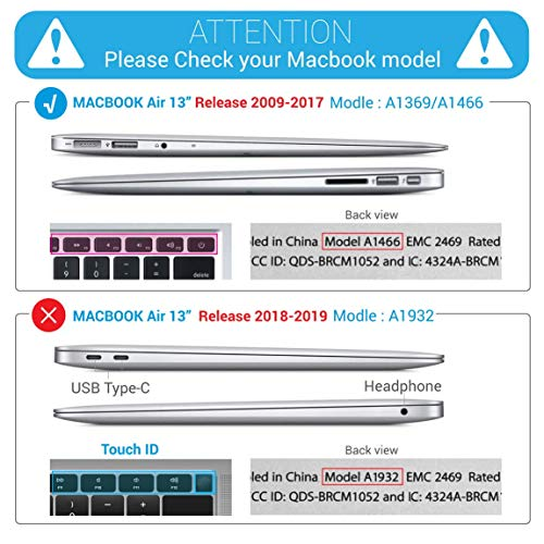 Ibenzer 3 In 1 Macbook Air 13 Soft Skin Plastic Hard