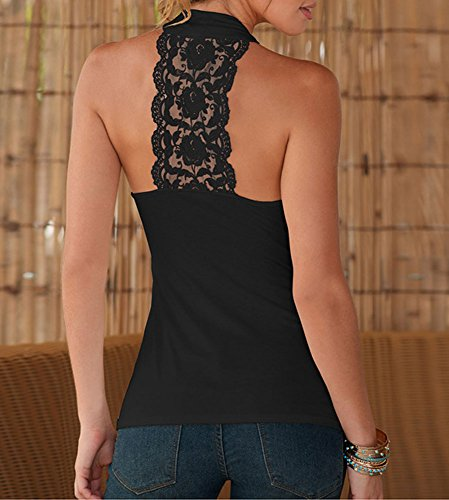 Pinkyee - Camiseta sin mangas - para mujer negro