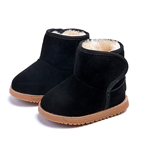Botas Unisex de Nieve de Niñas Niños de Algodón Terciopelo Zapatos de Bebé Invierno Botines Niña