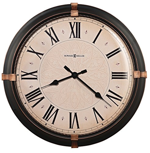 Howard Miller 625-498 Atwater Wall Clock by (Quartz Ring Frame)