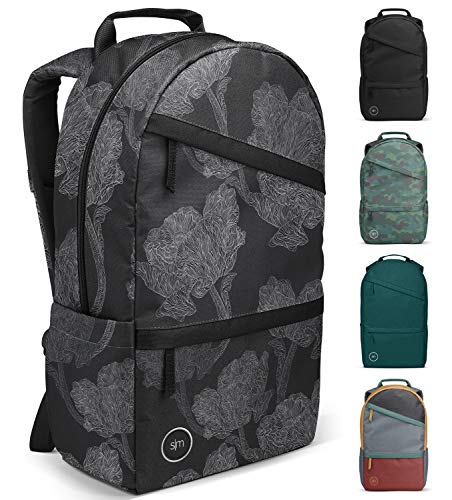 Simple Modern Legacy Backpack with Laptop Compartment, Mono Fleur, 25 Liter