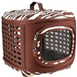 Petmate Curvations Luxury Pet Carrier, Small, Zebra