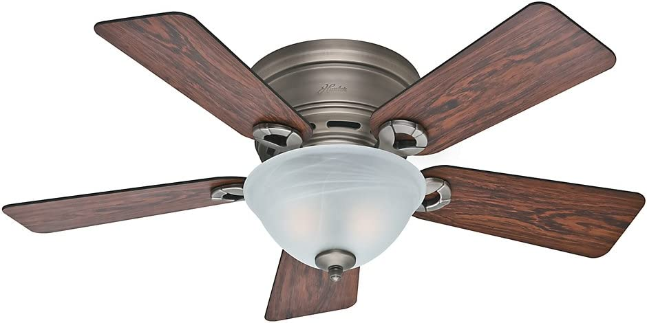 Hunter Fan Company Hunter 51024 Transitional 42``Ceiling Fan from Conroy collection in Pwt, Nckl, B/S, Slvr. finish, Antique Pewter