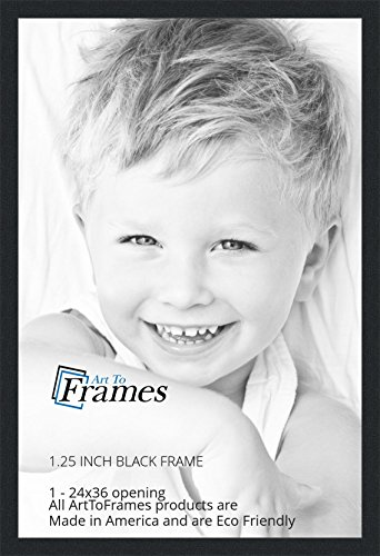 ArtToFrames 24x36 inch Black Picture Frame, WOMFRBW72079-24x36