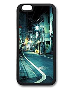 Japan Tokyo Street At Night Protective Soft & Smooth TPU Back Fits Cover Case for iphone 6 Plus 5.5-1122091