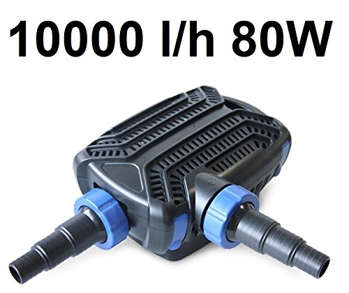 CTF-B 10000 Teichpumpe 80 Watt Eco Motor 10000 l/h 2in1 System Skimmer Förderpumpe Pumpe Energiesparpumpe