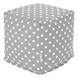 Majestic Home Goods Ikat Dot Cube, Small, Gray