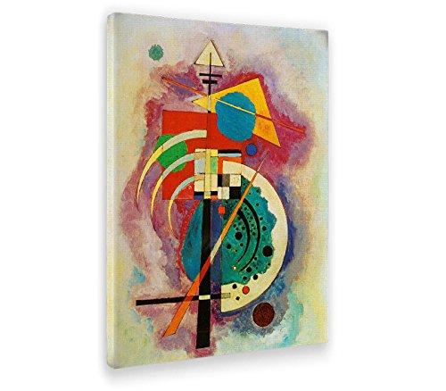 Giallobus - Cuadro - Impresion en Lienzo Kandinsky - Cuadro Abstracto OMAGGIO A Will GROHMANN - Pinturas Modernas de lienzos - Varios formatos - 100 x 140 CM