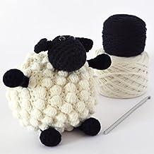 DIY Crochet Kit - Sheep,DIY Crochet Kits,Amigurumi Kit,Amigurumi Kits,Crochet Kits,Crochet Kit,Knitting Kit,Knitting Kits,crochet,crocheting