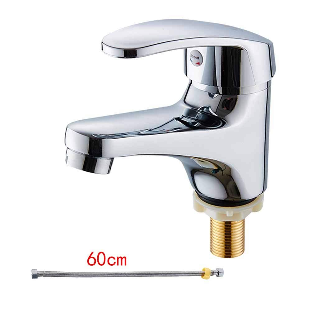 04 Zinc Alloy, Single Cold Lhxasd Bathroom Brass Chrome Basin Sink Mixer Taps, Single Lever Single Hole Faucet