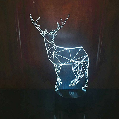 Comics+3D+Night+Lamp+ Products : Christmas Deer Gift 3D Light Table Lamp Led Acrylic Night Light Touch Swithc Usb