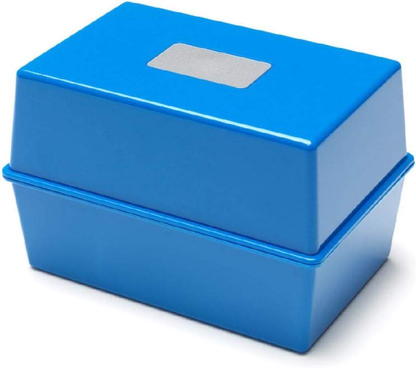 Deflecto Value Size 6 x 4 Index Card Box Black