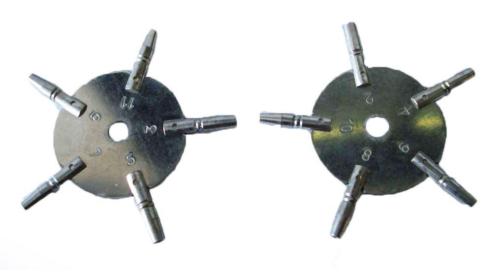 ユニバーサルポケット時計キーセット、Odd & Evenサイズから真鍮Blessing B06Y2C9T8R
