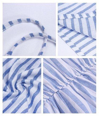 Moxeay Damen Jumpsuit Blau hellblau 32-34-36-38