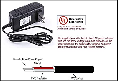 UL Listed AC DC Power Adapter for Schwinn Fitness Recumbent Exercise Bikes 202, 206, 213, 223, 226 & 231