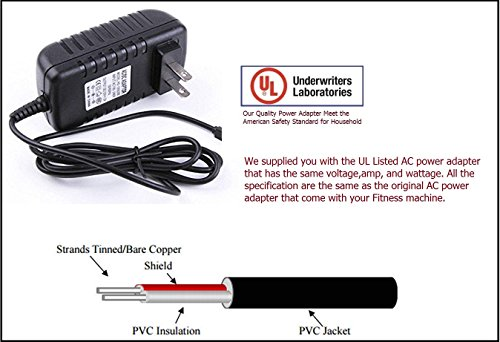 UL Listed AC DC Power Adapter Power Supply for Body Champ Fitness BRM3681 Cardio 2-in-1 Elliptical Dual Trainer Exercise Bike