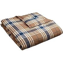 Pinzon 160 Gram Plaid Flannel Duvet Cover - King, Brown Plaid
