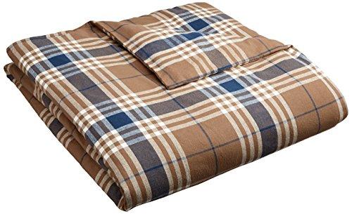 Pinzon 160 Gram Plaid Flannel Duvet Cover - Twin, Brown Plaid