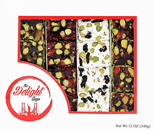 Luxury Dark Chocolate Coated Turkish Delight w/ Double Pistachio – Fresh, Handcrafted Chocolates for Valentines Day!