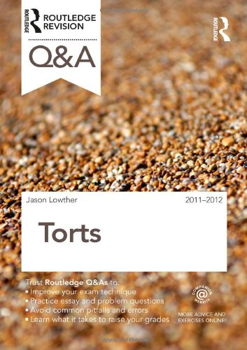 Q&A Torts 2011-2012 (Questions and Answers)