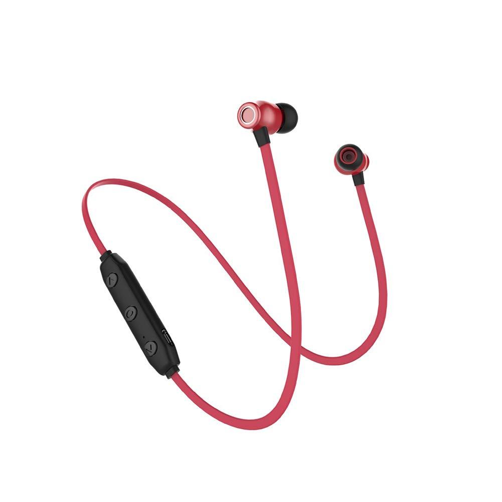 RONSHIN Headphones/Earphones/Earbuds X5 Magnetic Wireless Sports Bluetooth Headset in-Ear Ultra Long Standby Mini Bluetooth Headset red by RONSHIN
