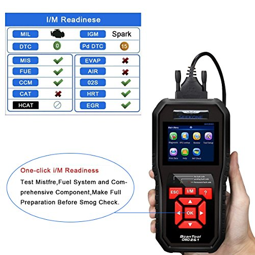 51Nzd2ZziEL - SEEKONE OBD2 Scanner, Professional Car Auto Diagnostic Code Reader OBDII & CAN Vehicle Engine O2 Sensor Systems EOBD Scanners Tool for all OBDII Protocol Cars Since 1996(Upgraded SK860)