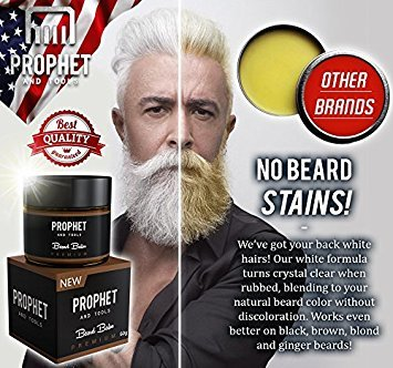 2 IN 1 Quality White Beard Balm Oil Wax - FREE Beard Care Ebook ...