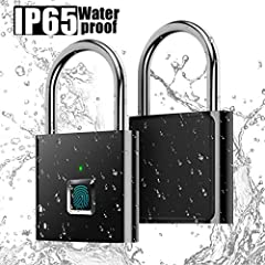 Fingerprint Padlock, Gym Lock for Locker, Sports, School & Employee Locker, Outdoor, Fence, Hasp and Storage - All Weather Metal and Steel IP65 (No App Lock)