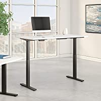 Move 60 Series 60W x 24D Height Adjustable Standing Desk in White with Black Base