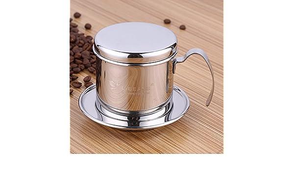 ParaCity Filtro de café de filtro de café vietnamita pour over de goteo de acero inoxidable cafetera goteo eléctrica filtro de filtro para el hogar cocina ...