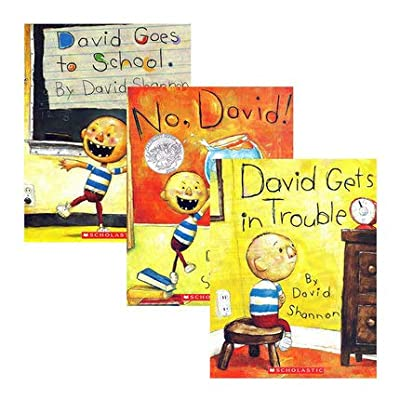 David Shannon Pack of 3 (No David, David Gets in Trouble, David Goes to School): Toys & Games