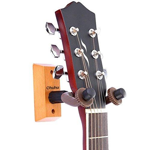 guitar hanger keeper ohuhu hardwood wall mount 2 pack hook holder stand for acoustic electric. Black Bedroom Furniture Sets. Home Design Ideas
