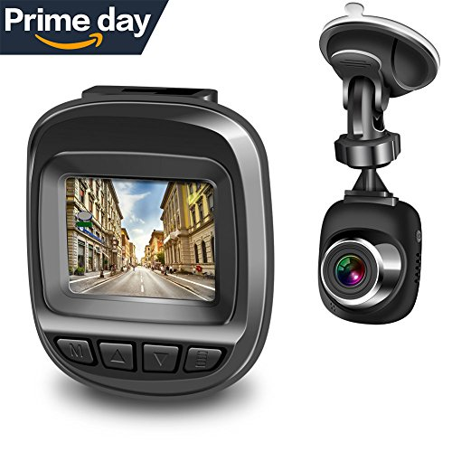 Actionpie Dash Cam 1080P Car DVR Dashboard Camera Full HD Recorder, G-sensor, WDR, Loop Recording, (BLACK)