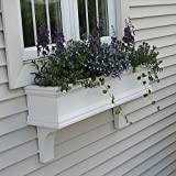 60″ Charleston PVC Window Boxes – No Rot w/ 3 Free Brackets For Sale