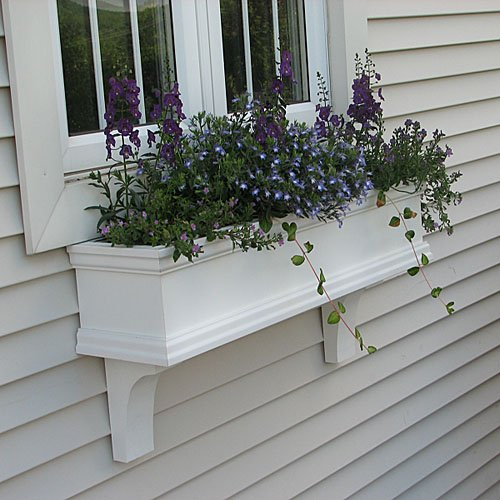 30'' Charleston PVC Window Boxes - No Rot w/ 2 Free Brackets by FlowerWindowBoxes.com