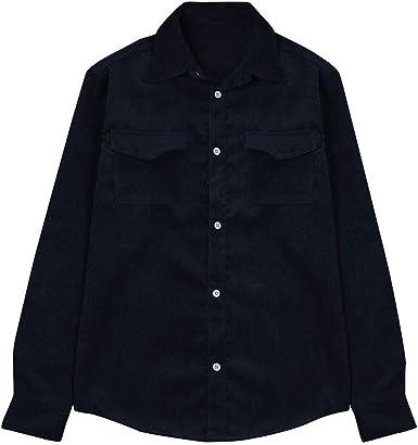 Pana otoño Camisa para Hombre Camisas de Manga Larga Tops Pana de la Blusa de Las Camisas Ocasionales: Amazon.es: Ropa y accesorios