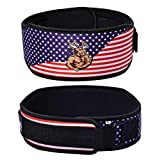 DMoose Fitness Neoprene Weightlifting Belt (Single) Back Cushion Foam Support, Nylon Strap, Reinforced Stitching, Heavy-Duty Steel Ring Helps Maximize Your Weightlifting & Bodybuilding Proper Workout