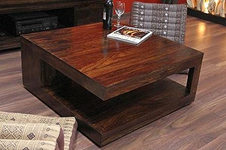 Tavolini Da Salotto In Legno Massiccio : Tavolino da salotto quadrato noce legno legno massiccio
