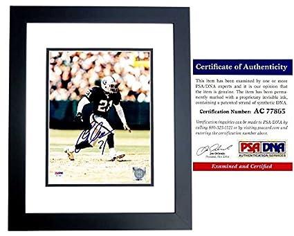 Eric Allen Autographed Signed Oakland Raiders 8x10 Photo Black
