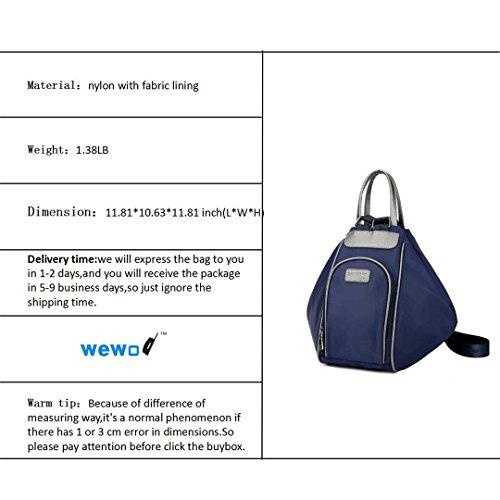 Wewod Mochilas Mujer Casual/Bolsas Mochilas Impermeables/Bolso Mensajero Mujer/Bolso de Mano de Nylon 30 x 30 x 27 cm (L*H*W) Azul