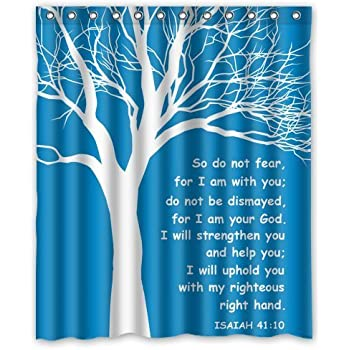Personalized Christian Theme Isaiah Quote for Shower Curtain Bath Curtain 60