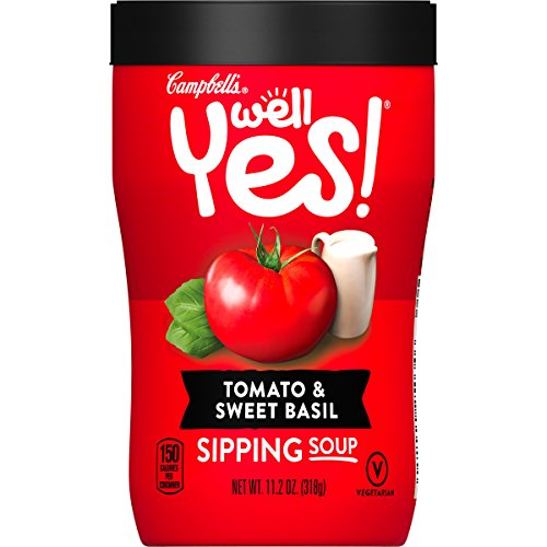 - Campbell's Well Yes! Sipping Soup, Tomato & Sweet Basil, 11.2 oz. Cup