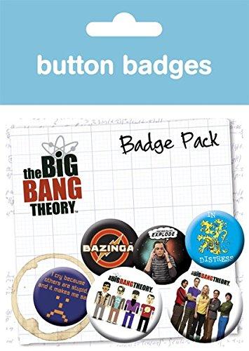 The Big Bang Theory Character Icons Badge Pack ()