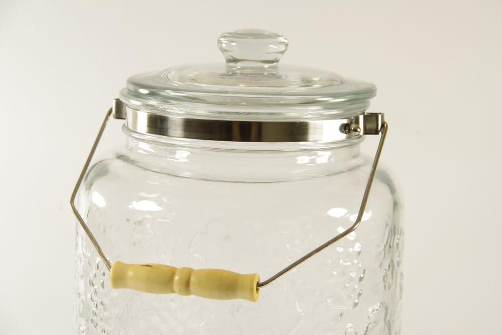 AGROHIT Getr/änkespender mit Zapfhahn Zapfs/äule Dispenser aus Glas 4 L