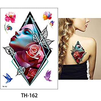 HXMAN 14.8 X 21cm 24 Diseño 1 Mesa Temporal Tatuaje Pegatina Th ...