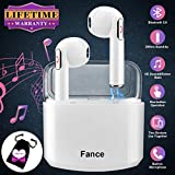 Wireless Earbuds with Charging Case,Bluetooth Earbuds with Mic for Running,Wireless Bluetooth Earphones with Microphone,Mini Sports Earbuds Compatible iOS Android Samsung Huawei Phones XR X 8 7 White